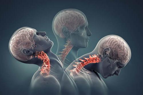 beweging hoofd en nek voor achter