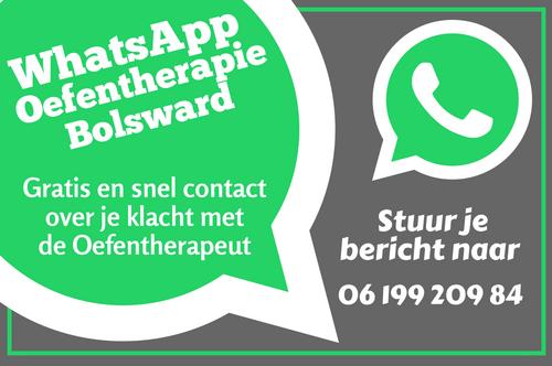 Stuur een whatsapp bericht naar Oefentherapie Bolsward